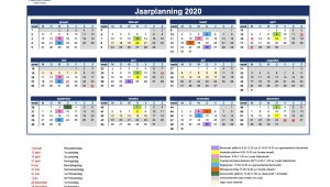 Save the date! Jaarplanning 2020